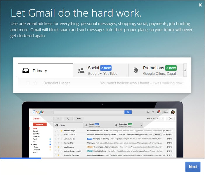 Gmail Inbox Instructions
