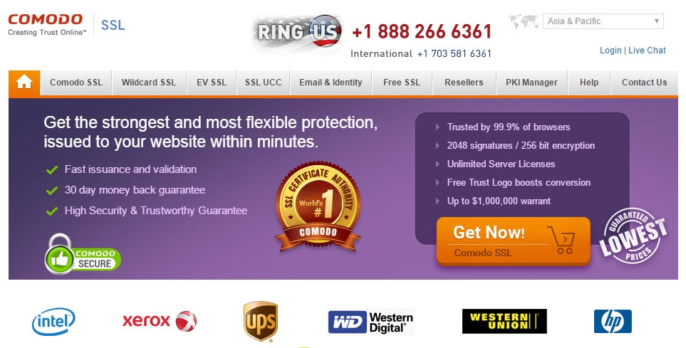Comodo SSL Certificate Provider