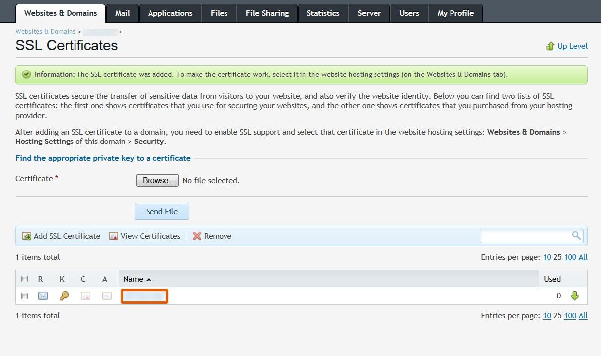 How to install ssl certificates tech quintal ssl certificates plesk xflitez Gallery