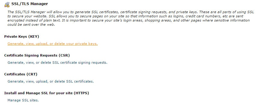 SSL or TLS Manager