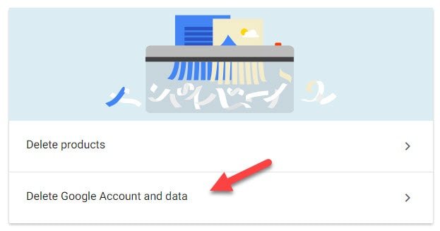 Delete Google Account in Configuration Page