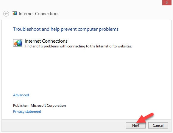 Internet Connections Diagnosis Windows