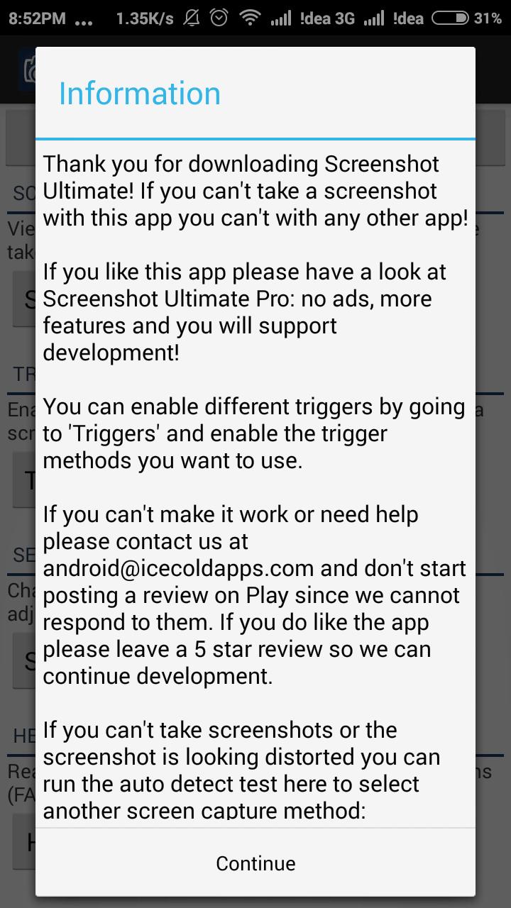 Screenshot Ultimate Information