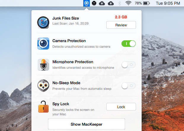 MacKeeper Notification