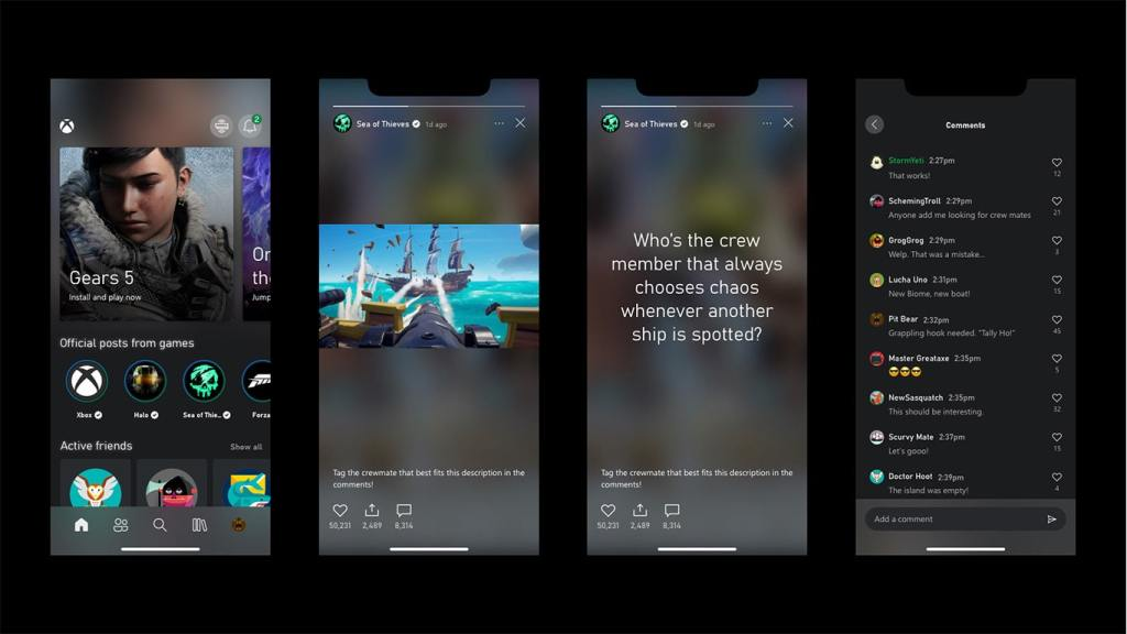 Official Game Hubs Can Now Share Stories in The Xbox App