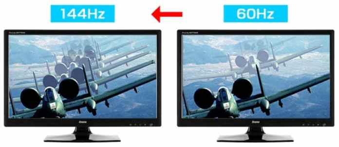 60hz vs 144hz vs 240hz monitor refresh rate