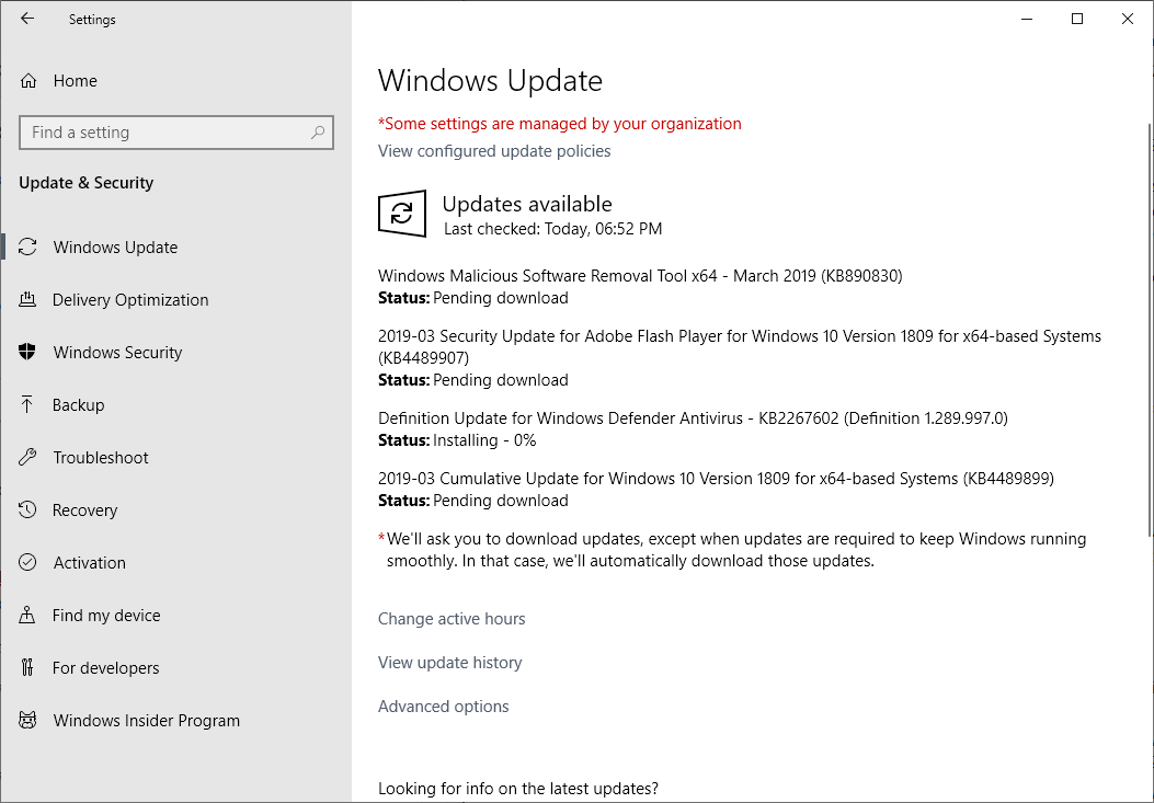 Microsoft Windows Security Updates March 2019 overview