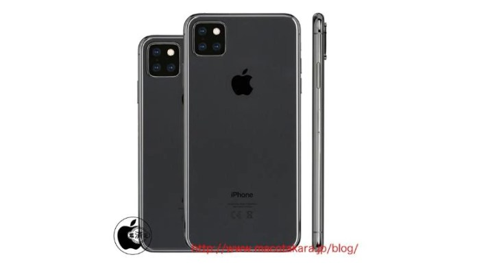 Some 2019 iPhones may come with triple cameras in a square like the Mate 20 Pro