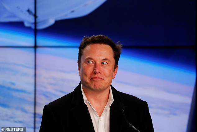 Elon Musk (pictured) is behind SpaceX and its project, Starlink, which aims to launch thousands of satellites capable of providing high speed, low-latency internet