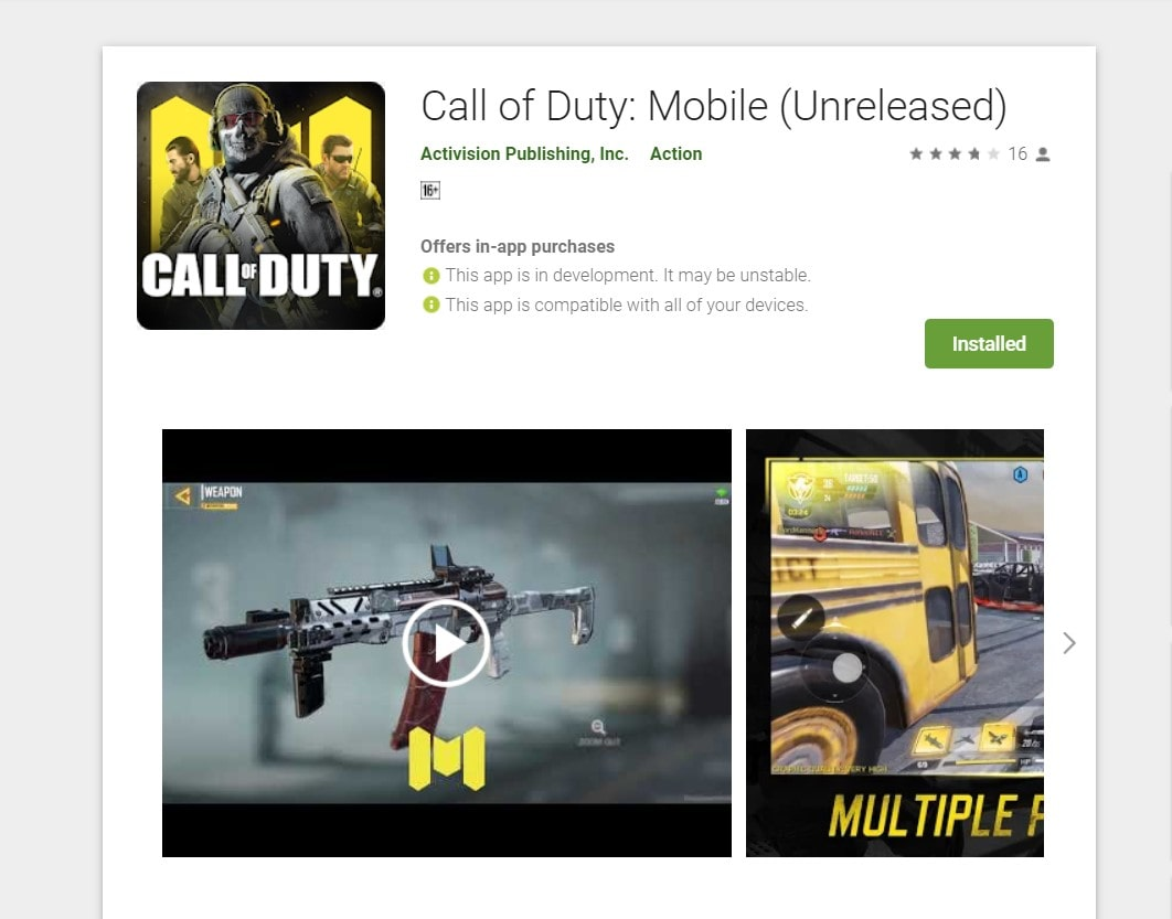 Download Latest Call Of Duty Mobile v1 0 2 APK and OBB file