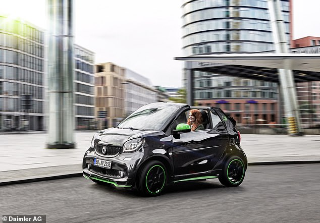 The Fortwo Cabrio is the first of 3 Smart EQ electric models to make it into the list. It's currently the only electric convertible car you can buy