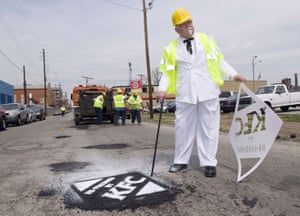 KFC filled 350 potholes in Louisville, Ky in 2009