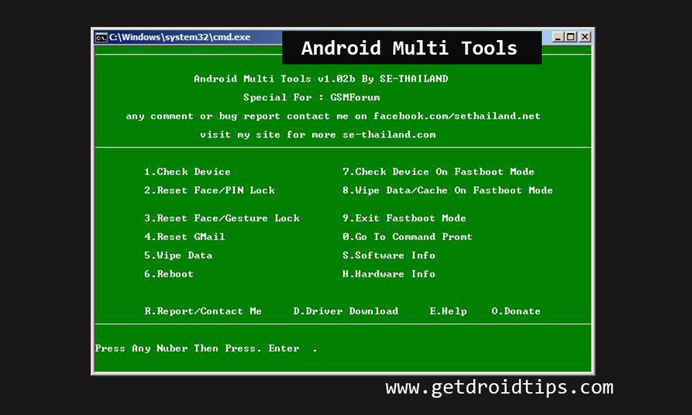 Download Android Multi Tools [Latest Version v1 02b added