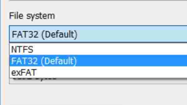 Setting FAT 32 USB Format: