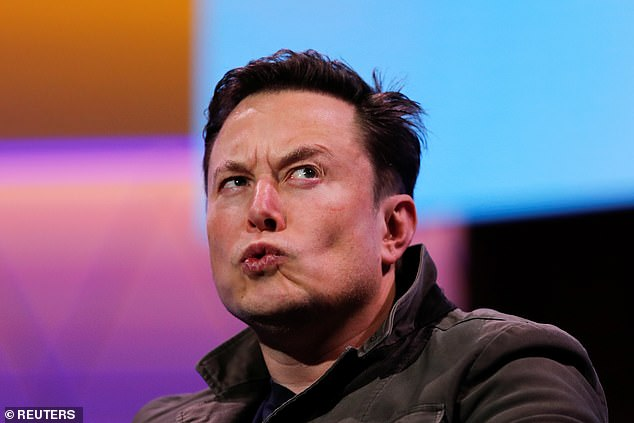 Musk regularly destroys his devices for 'security purposes' - a practice that one expert calls 'absurd for the average person' (File photo)