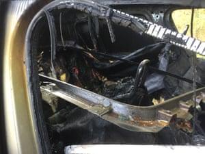 Interior of Dr Lakshmaiah's car