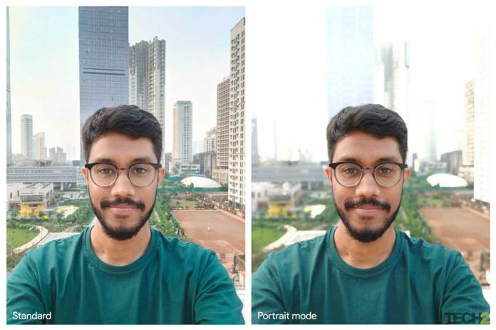 Portrait mode on the Realme X2 Pro with the front camera. Image: tech2/Abhijit Dey