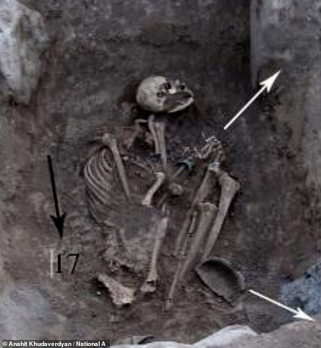 The strong female fighter was in her 20s when she died was buried with a 'rich inventory of goods' including jewellery, experts confirmed. The grave was discovered in Armenia