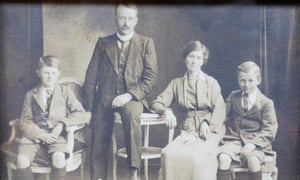 Former store owners R D Ryder and his wife R L Ryder with their children, circa 1910.