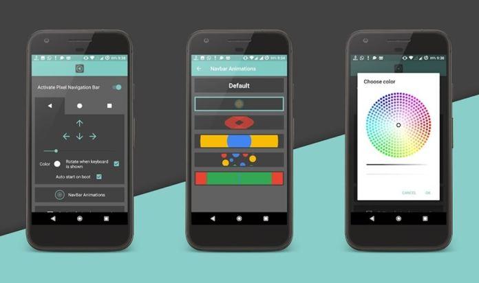 Pixel 4 Navigation Bar