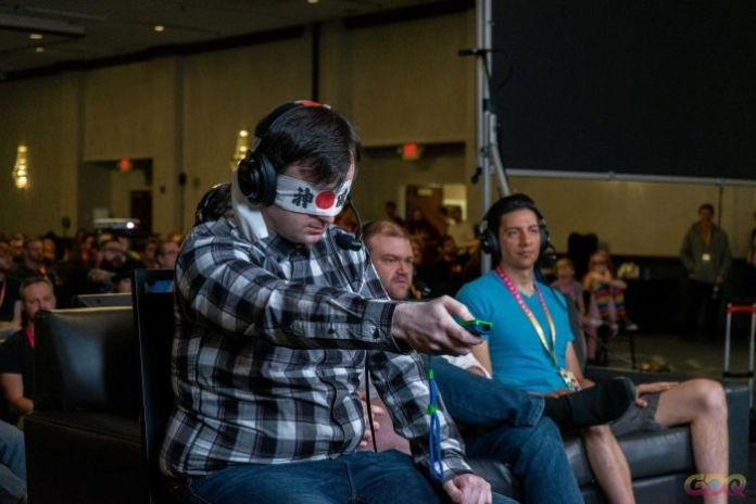 Viewers can donate money to set challenges for speedrunners — like playing the entire game blindfolded.