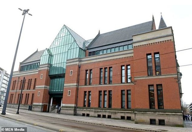 Taylor was handed a 15-year sentence, plus a three-year extended sentence at Manchester's Minshull Street Crown Court (pictured). Burlingham was sentenced to 11 years, plus a one year extended sentence
