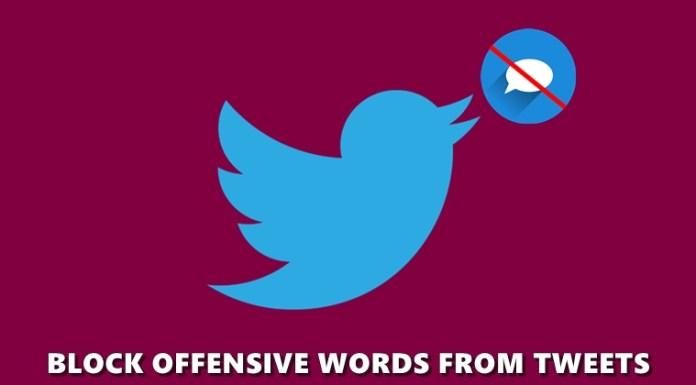 block offensive tweets