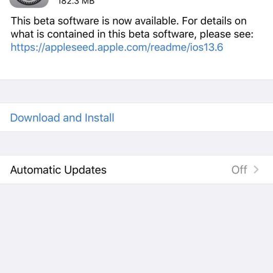 Apple Releases iOS 13.6 Public Beta 3 for iPhone