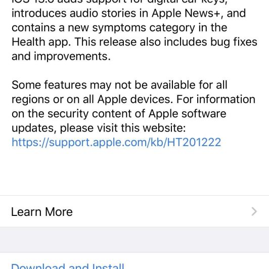 Apple Releases iOS 13.6 GM for Developers, Includes CarKey Support, Apple News Audio, & Symptom Tracker
