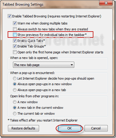 How To Make Internet Explorer Open Multiple Tabs At Launch - MVlC