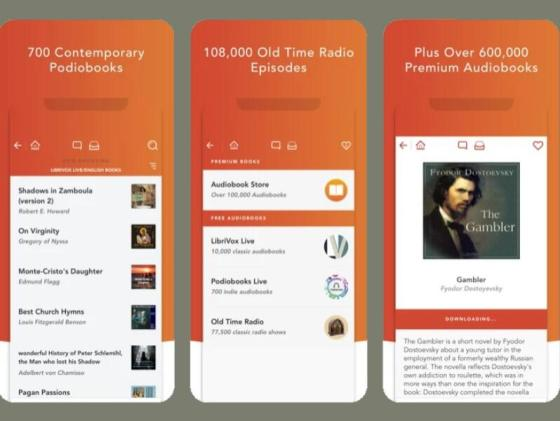 Audiobooks HQ application interface