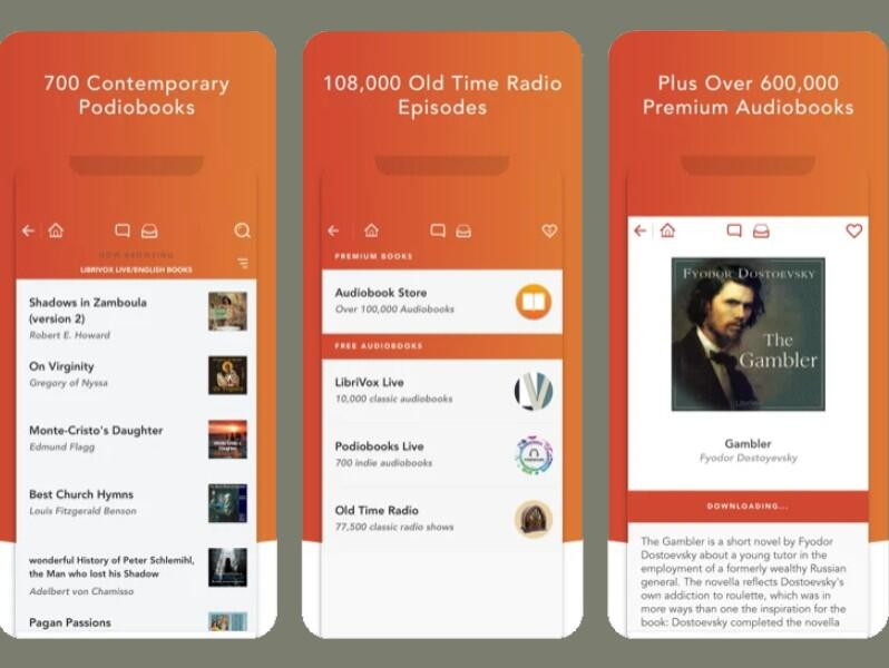 Audiobooks HQ app interface