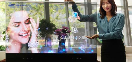 Samsung Transparent TV And Samsung Smart Mirror