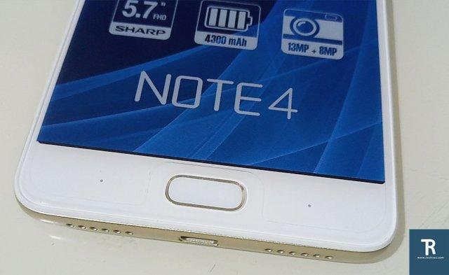 Infinx Note 4 front