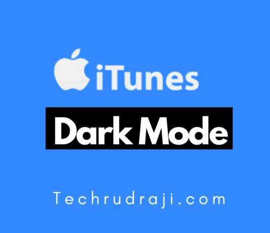 iTunes Dark Mode