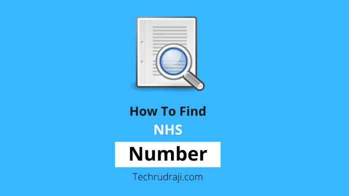 how to find NHS number