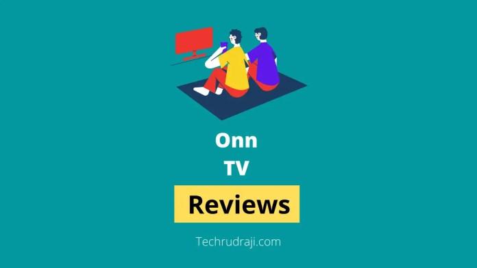 onn tv reviews