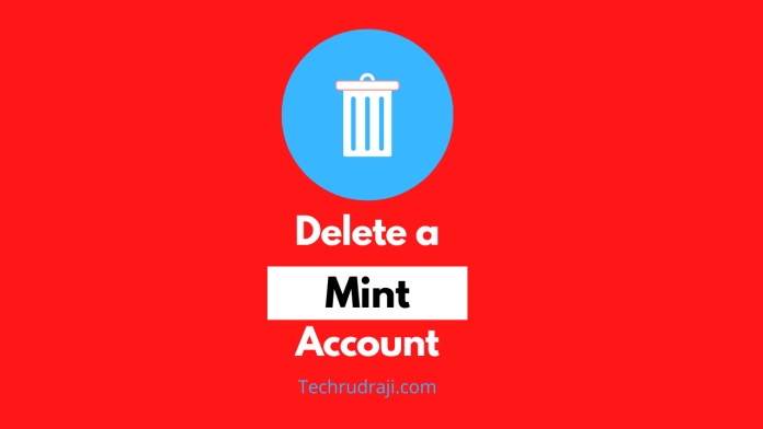 how to delete a mint account