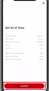 how to sell stock on cash app