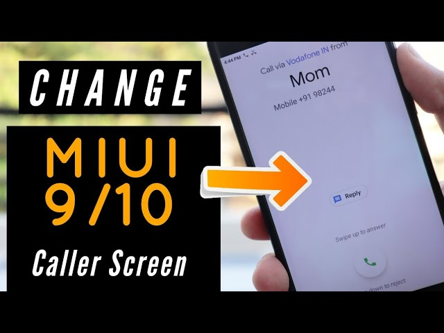 Change xiaomi device caller screen | Tech Rush