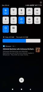 MiOppo Blue notification bar MiUi themes for xiaomi device on techrushi.com