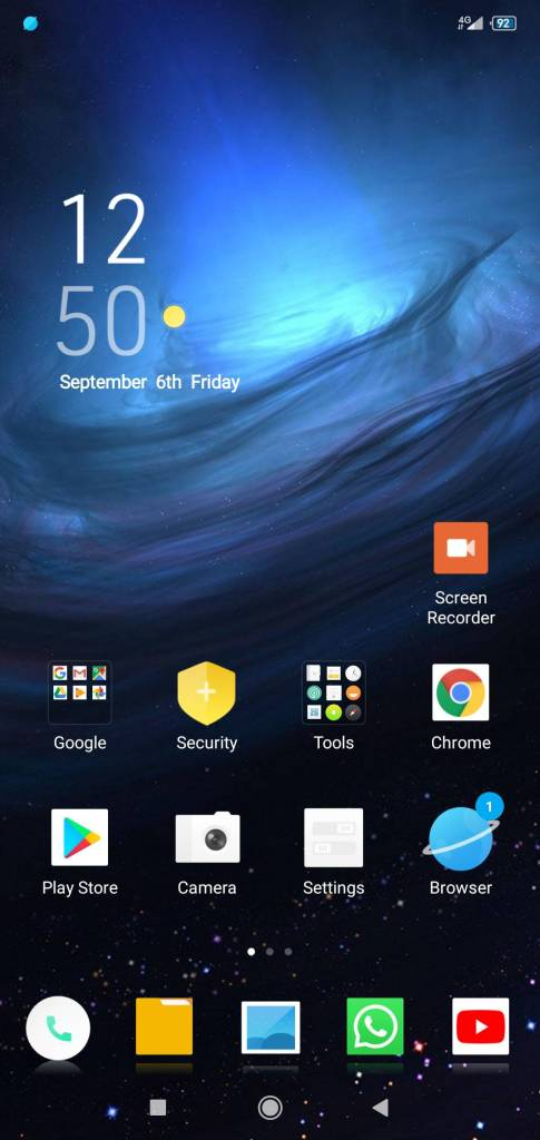 Space Station miui theme home screen on techrushi