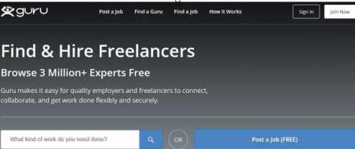 Guru: Freelance Market