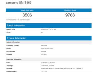 Samsung Galaxy Tab S5 Geekbench