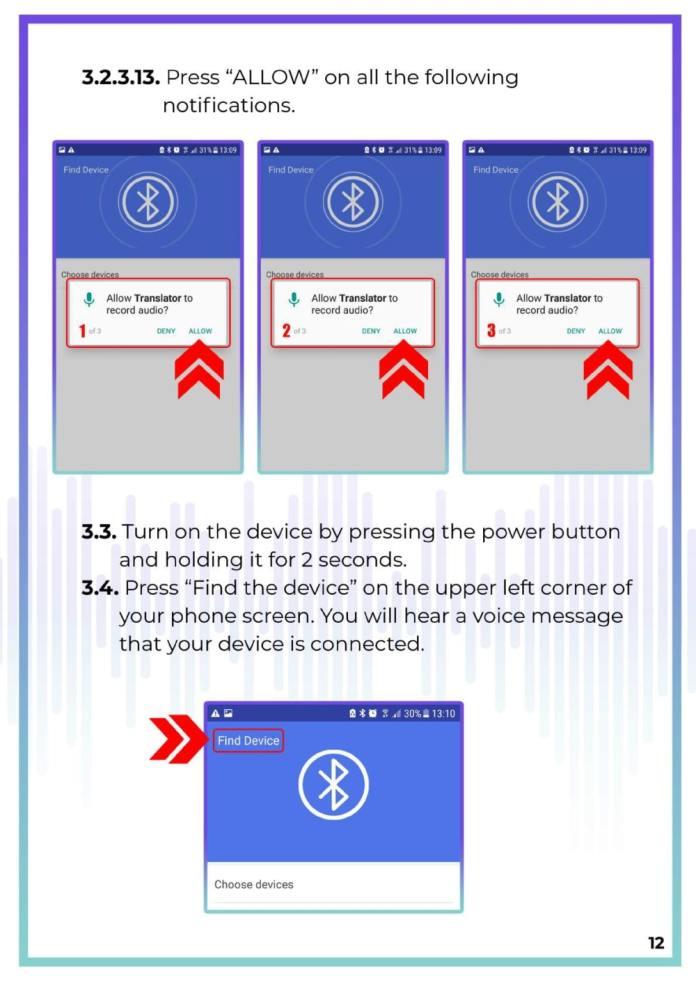 MUAMA Enence Instant Voice Translator User Manual 13