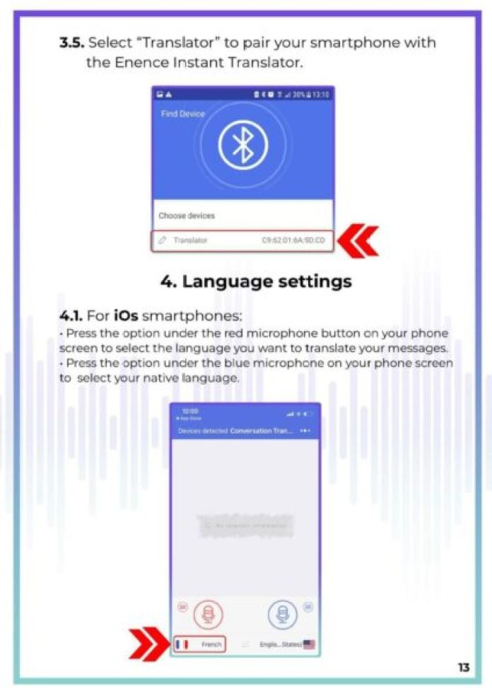 MUAMA Enence Instant Voice Translator User Manual 14
