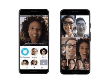 google duo 2019 with up to 4 user's facial expressions ar effects new ar effects