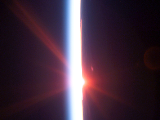Sun Rise from Space