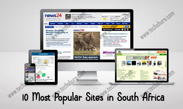 10 Most Popular Sites in South Africa