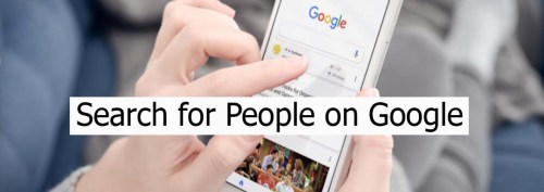 Search for People on Google